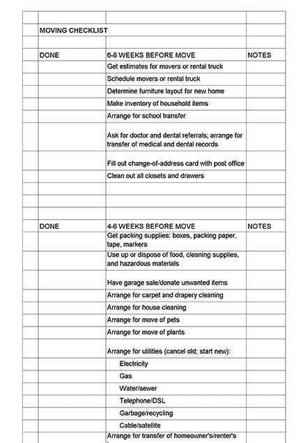 sample home moving checklist - How to Find Reliable and Reputable Movers In Singapore